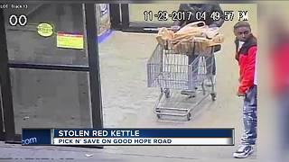 Salvation Army Red Kettle stolen from Milwaukee grocery store - Video
