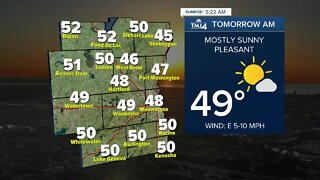 Mostly sunny and even warmer Thursday