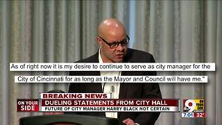 Dueling statements from City Hall