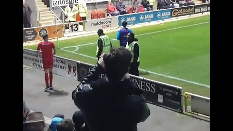 Match of the Day: Fan Mimics Opposing Player's Sideline Warmup