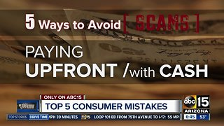 Top 5 consumer mistakes