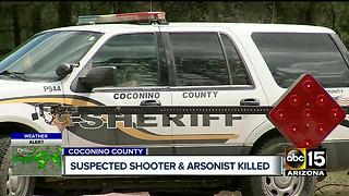 Alleged arsonist shot, killed after 10 day manhunt - Video