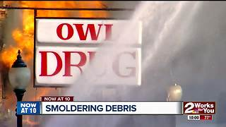 Flames rip through downtown Wagoner - Video