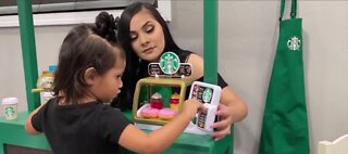 Family builds Target and Starbucks replicas