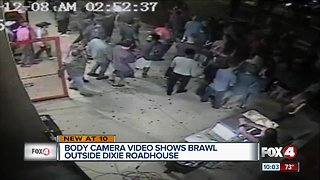 Video shows brawl outside Dixie Roadhouse