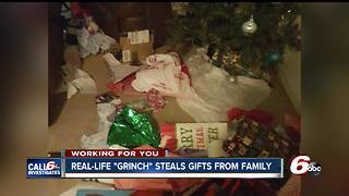 Real-life 'Grinch' steals gifts from under Indy family's tree - Video