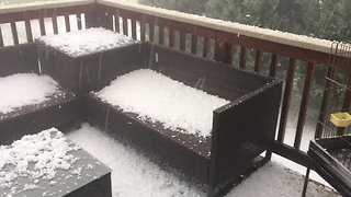 Hailstorm Slams Firestone, Colorado