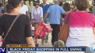 Black Friday shoppers out in full force - Video