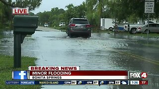 Rain causes street flooding in Bonita Springs
