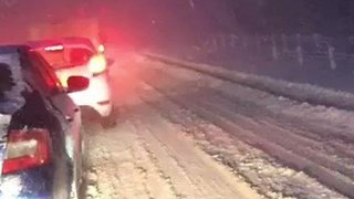 Motorists Trapped Overnight by Snow on M80 Motorway - Video