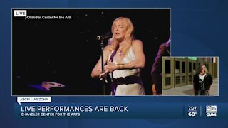 Live performances are back at the Chandler Center for the Arts