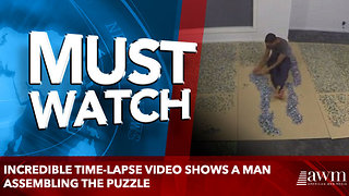 Incredible time-lapse video shows a man assembling the puzzle - Video
