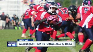 Midget football player in ICU with brain bleed - Video