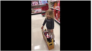 Little girl wants toy, says she's good for the money - Video
