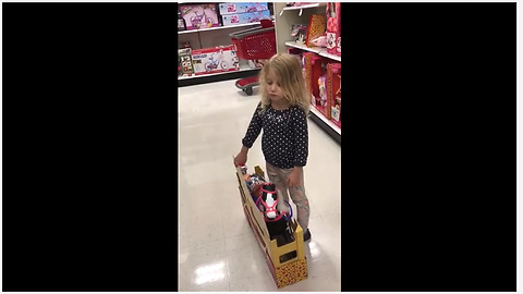 Little girl wants toy, says she's good for the money