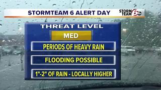 T'Storms Thursday. Dry weekend. - Video