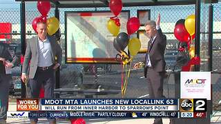 MDOT MTA launches new bus route - Video