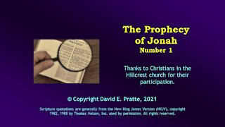 Video Bible Study: Book of Jonah - 1