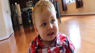 1-year-old Boy *REALLY* Believes He Is 6-years-old (LOL!)