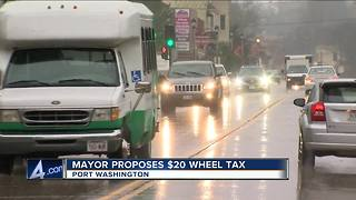 Port Washington Mayor hopes city will pass $20 wheel tax - Video