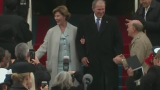Former President George W. Bush and first lady Laura Bush arrive at Donal Trump Inauguration - Video