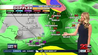 The atmospheric river has made its way into Kern County bringing steady rain - Video