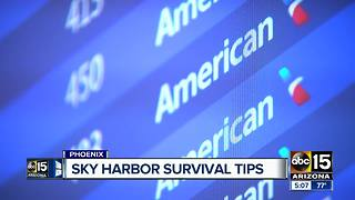 Some quick tips for managing time at Sky Harbor Airport during the holidays - Video