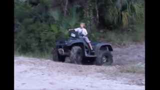 5 year old does insane 4 wheeler tricks on a Foreman 450 - Video
