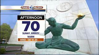 Mild temps and sunshine - Video