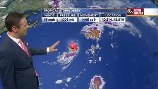 Tropical Storm Debby forms - Video