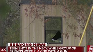 Teen Shot In Neck After Playing With Gun - Video