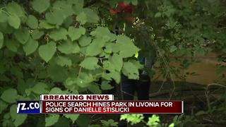 Police searching park for missing woman - Video