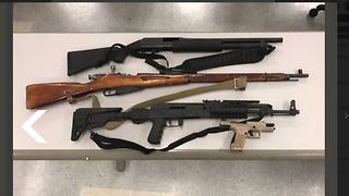 Guns, ammo found during traffic stop in northwest Las Vegas - Video