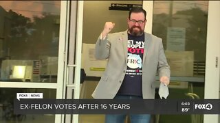 SWFL ex-felon casts first vote after rights restored