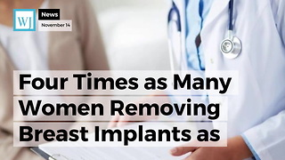 Four Times as Many Women Removing Breast Implants as Opposed to Getting New Ones - Video