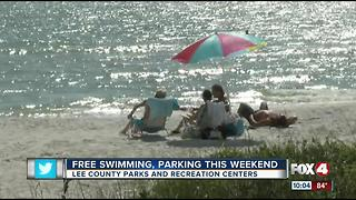 Free Swimming, Parking This Weekend at Lee County Parks - Video