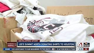 Lee's Summit North High School donates shirts to Houston