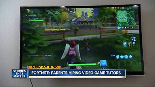 Parents hiring Fortnite video game tutors - Video