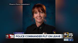 Phoenix police commander put on leave for misconduct complaint - Video