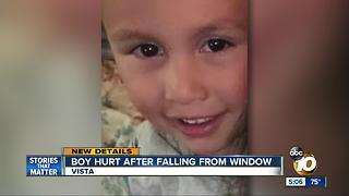 Vista boy hurt in fall from window - Video