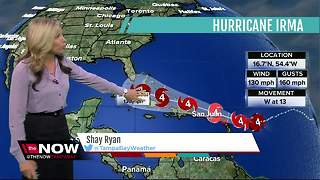 Hurricane Irma Update | Florida's Most Accurate Forecast with Shay Ryan on Monday at 5PM - Video