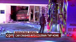 Car crashes into Colerain Township home - Video