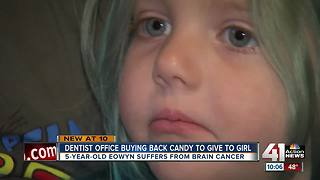 Dentist hosts candy drive for girl with cancer - Video