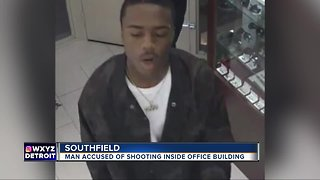 Man accused of shooting inside office building in Southfield