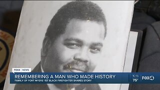 Family of Lee County's first black firefighter shares his story