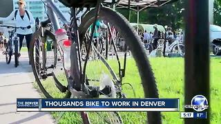 Thousands bike to work in Denver - Video
