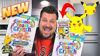 *NEW* Exclusive Pokemon Cards in General Mills Cereal | Pokemon 25th Anniversary | Pokemon Opening