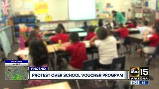 Local group to protest over school voucher program - Video