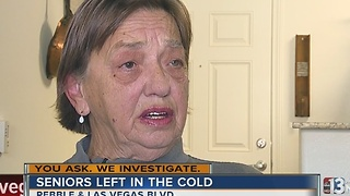 Seniors living without heat or hot water - Video