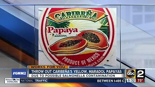 Marylanders urged not to eat Caribena's papayas - Video